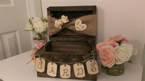 card box ideas personalized rustic card box burlap wedding reception card