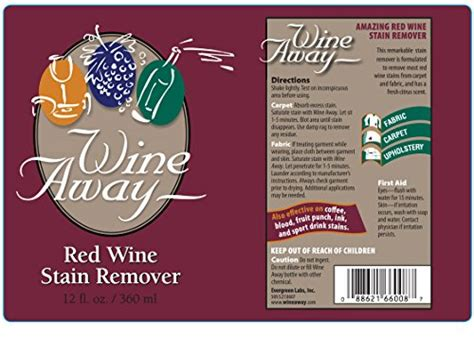 removing red wine stains from upholstery wine away red wine stain remover 12 ounces 11street