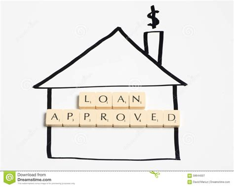 house loan approval loan approved stock photo image 58644007