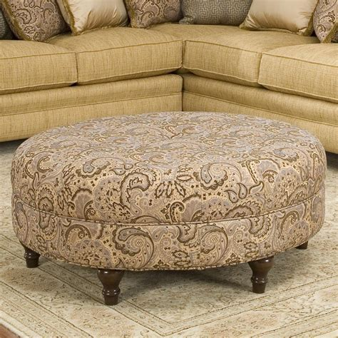 round chair with ottoman round traditional styled ottoman by smith brothers wolf