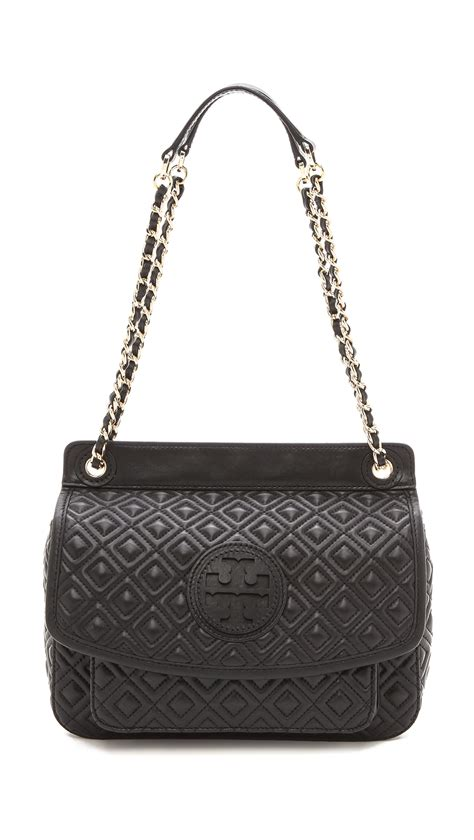 Burch Quilted Bag by Burch Marion Quilted Shoulder Bag In Black Lyst