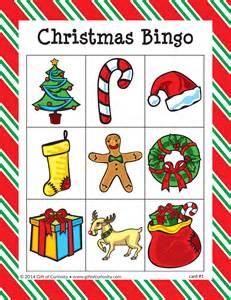 Kids Summer Arts And Crafts - christmas bingo gift of curiosity