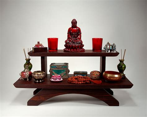 peruvian two tier puja table meditation shrine table top