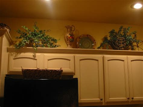 kitchen cabinet decorations top kristen s creations decorating kitchen cabinet tops