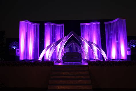 stage backdrop design images the purple themed mirror worked wedding reception stage