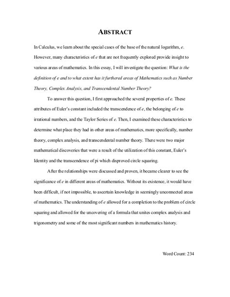 Math Essays by Math Extended Essay