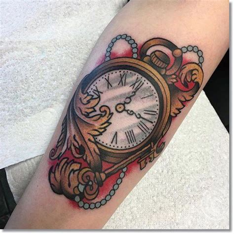 traditional pocket watch tattoo 110 cool pocket tattoos that are totally badass