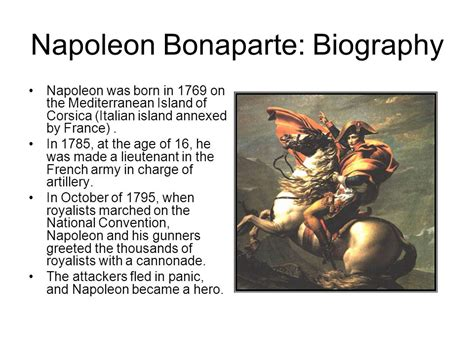 napoleon bonaparte i biography napoleon forges an empire ppt download