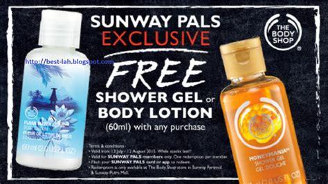 Shower Gel 60ml The Shop 1 bestlah the shop free shower gel or lotion 60ml 13 july 12 aug