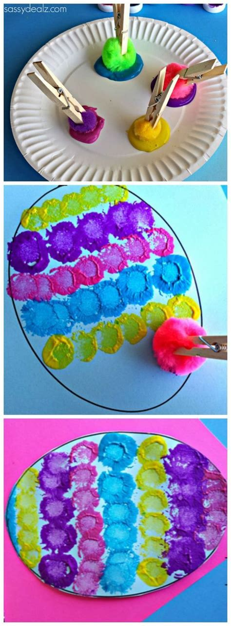 easy easter craft painting eggs 1000 ideas about easter crafts on easter eggs