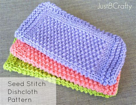 printable free knitting patterns seed stitch dishcloth pattern knitted dishcloth knit