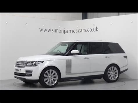 land rover autobiography white range rover autobiography 3 0 tdv6 finished in fuji white