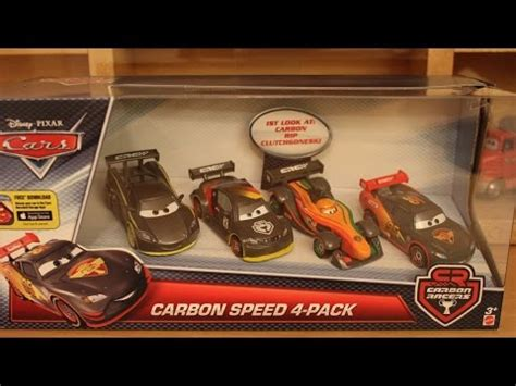 mattel disney cars carbon racers 4 pack with rip clutchgoneski carbon speed