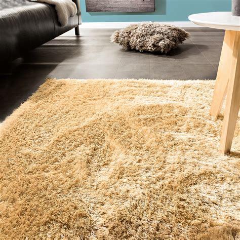 teppiche einfarbig edler teppich shaggy einfarbig beige hochflor teppiche