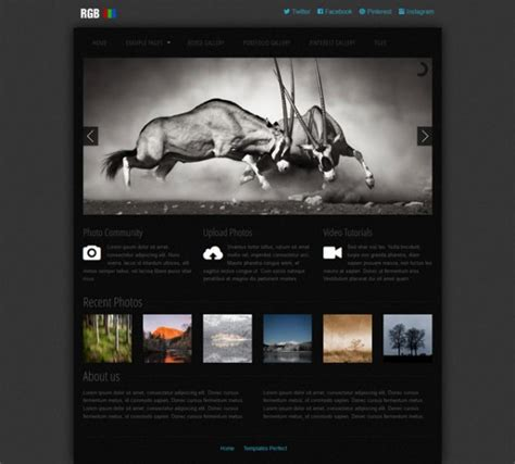 Templates Perfect Free Photo Gallery Css Web Template Photo Gallery Website Template Free