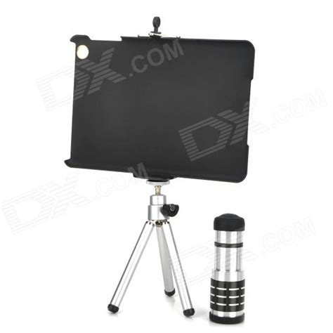Tripod Mini Holder U Silver Gratis Paket Hadiah 12x telephoto lens tripod universal holder protective back for mini black