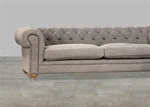 Chesterfield Style Sofa Upholstered Sofa Grey Chesterfield Style Button Tufted