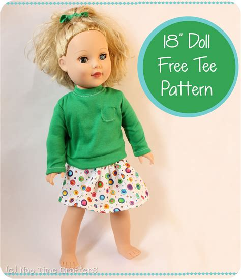 shirt pattern for doll free 18 quot doll t shirt pattern