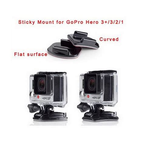 Adhesive Pads For Gopro 3m Vhb 4 x curved mounts inc 3m vhb adhesive sticky sticker pads gopro go pro uk stock ebay