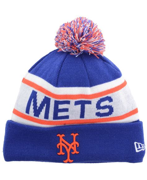 mets knit hat lyst ktz new york mets fan pom knit hat in blue