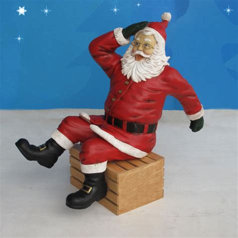 44 quot high yab designs outdoor sitting santa