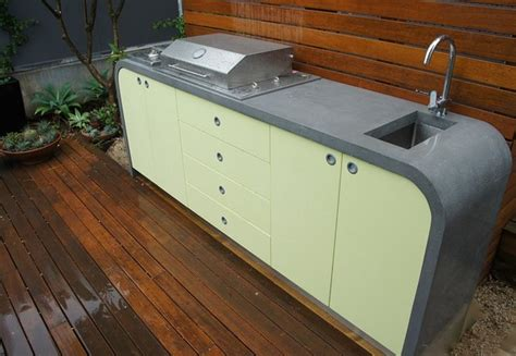 outdoor kitchen benchtops outdoor kitchen polished concrete benchtops