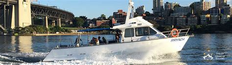 fishing boat charter sydney brynda boat hire private fishing charter sydney harbour