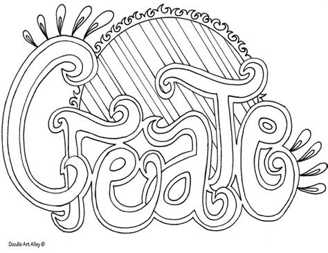 great coloring pages httpwwwdoodle art alleycomword