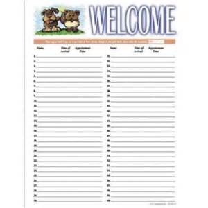 Client Sign In Sheet Template by Arts Press 174 Traditional Sign In Sheets Cat And