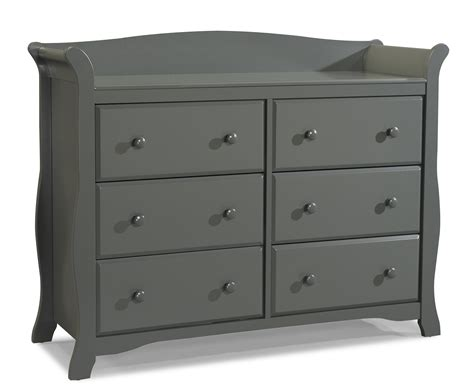 storkcraft avalon 6 drawer dresser gray storkcraft gray avalon 6 drawer children s dresser