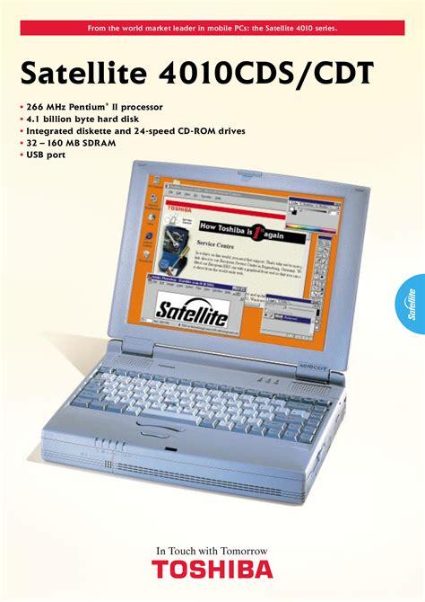 pdf manual for toshiba laptop satellite 4010cdt