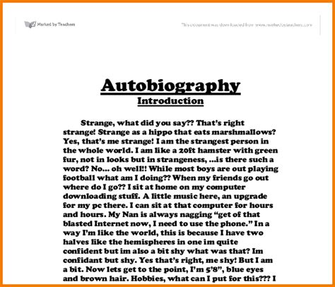 biography exles in literature 9 exemples of autobiography financial statement form