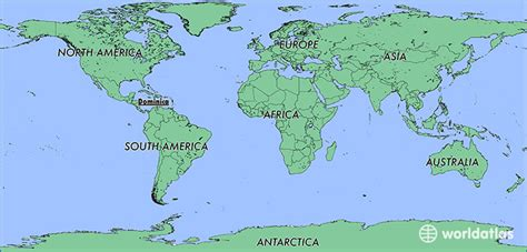 dominica on world map where is dominica where is dominica located in the