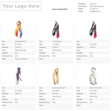 Wholesale Line Sheet Template Startup Fashion Apparel Line Sheet Template