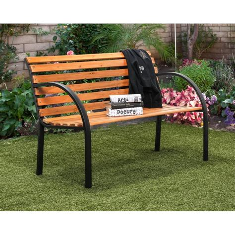 traditional outdoor furniture furniture of america jordy traditional patio bench in black idf ob1805