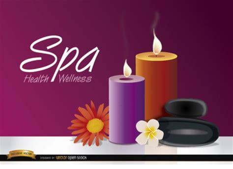 imagenes relajantes con velas velas con flores sobre fondo morado descargar vectores