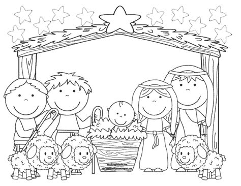 imagenes pesebres navideños para colorear recursos educativos dibujos para colorear navidad