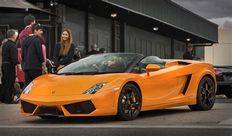Orange Lamborghini Convertible Orange Lamborghini Gallardo Convertible By