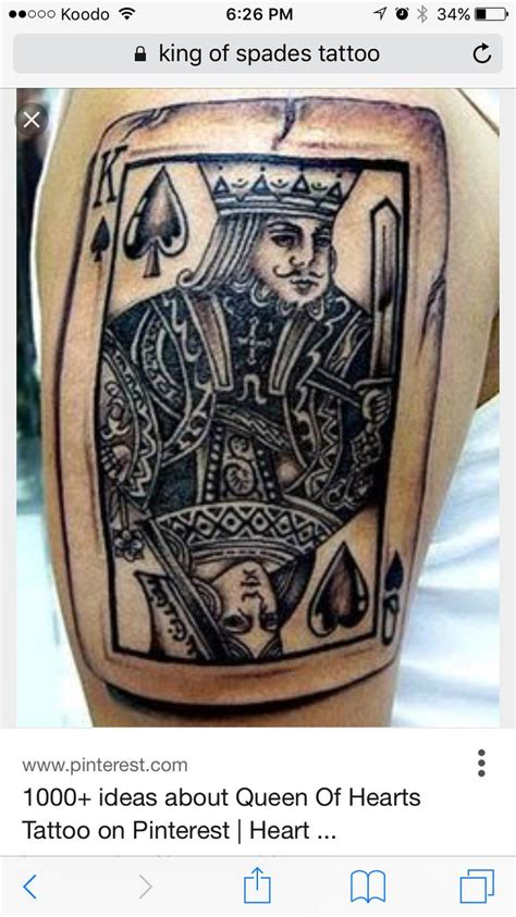 king of spades tattoo 17 best ideas about of spades on