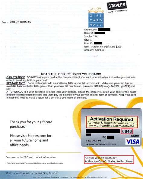 Can You Get Cash Off A Visa Gift Card - how to activate 200 visa gift cards from staples com without the activation codes