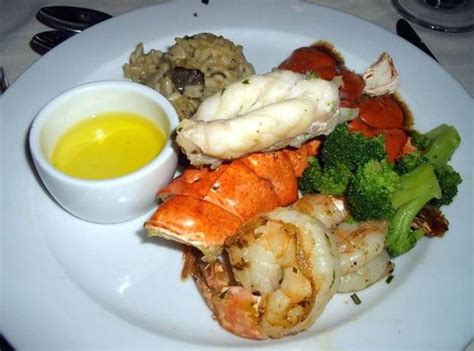 carnival cruise food broiled lobster tail and tiger