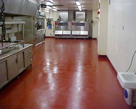 Poured epoxy floors for restaurant kitchens, poured