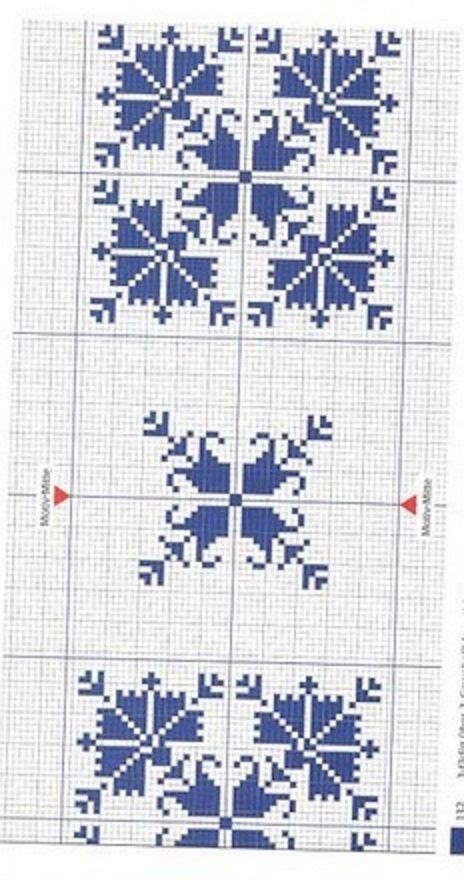 cenefas para manteles punto de cruz cenefas para manteles en azul manteles