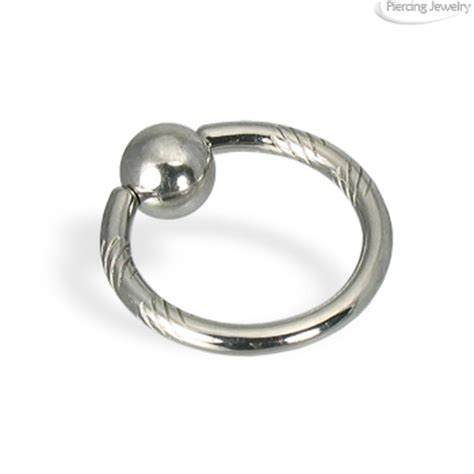 captive bead nose ring carved captive bead ring 14 ga nose piercing jewelry