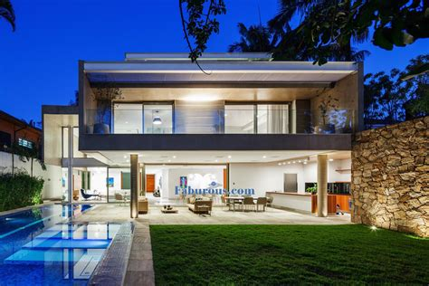 modern house open space brazilian modern house design