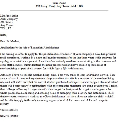 Cover Letters For Unadvertised Jobs Examples   Cover