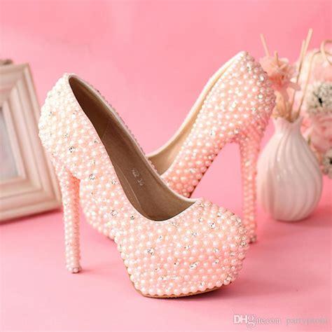 Pearl Pink Shoes pearl pink heels ha heel