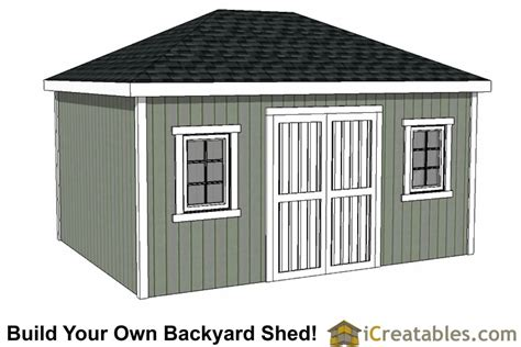 Hip Roof Garden Shed Plans 12x20 shed plans easy to build storage shed plans designs