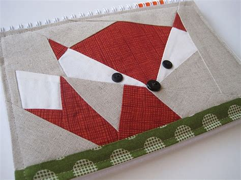 pattern block cover up foxy paper pieced sketch book cover pattern is 3 00 at