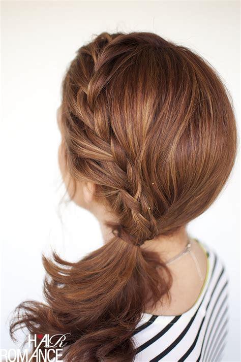 Wedding Hairstyles Side Ponytail Braid by Weekend Style Braided Ponytail Tutorial Hair